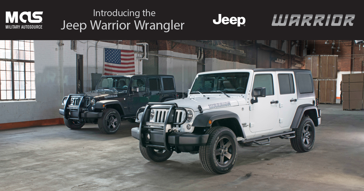 Black Jeep Cherokee >> Introducing the Special-Edition, Military Exclusive Jeep Warrior Wrangler - Military Autosource