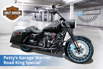 Harley-Davidson Petty's Garage Warrior Road King Special now available at Military AutoSource