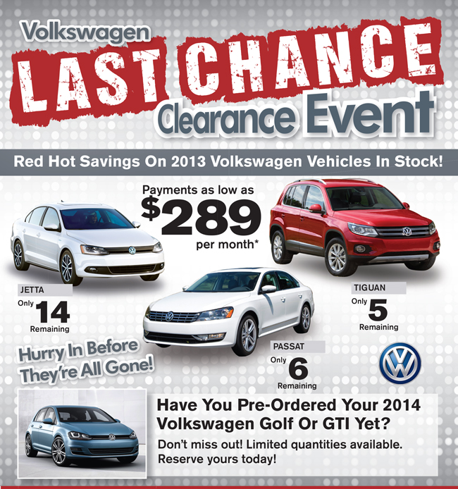 volkswagen clearance event military autosource