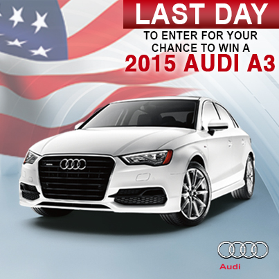 LAST DAY TO ENTER THE AUDI A GIVEAWAY Military Autosource - Audi car giveaway