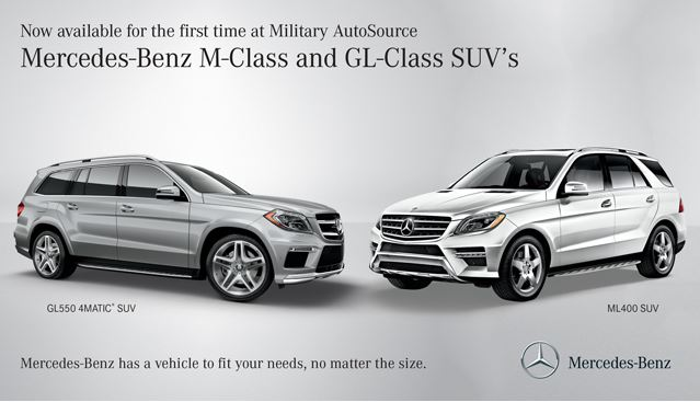 Now Available The MClass And GLClass At MercedesBenz Military - Mercedes benz military sales