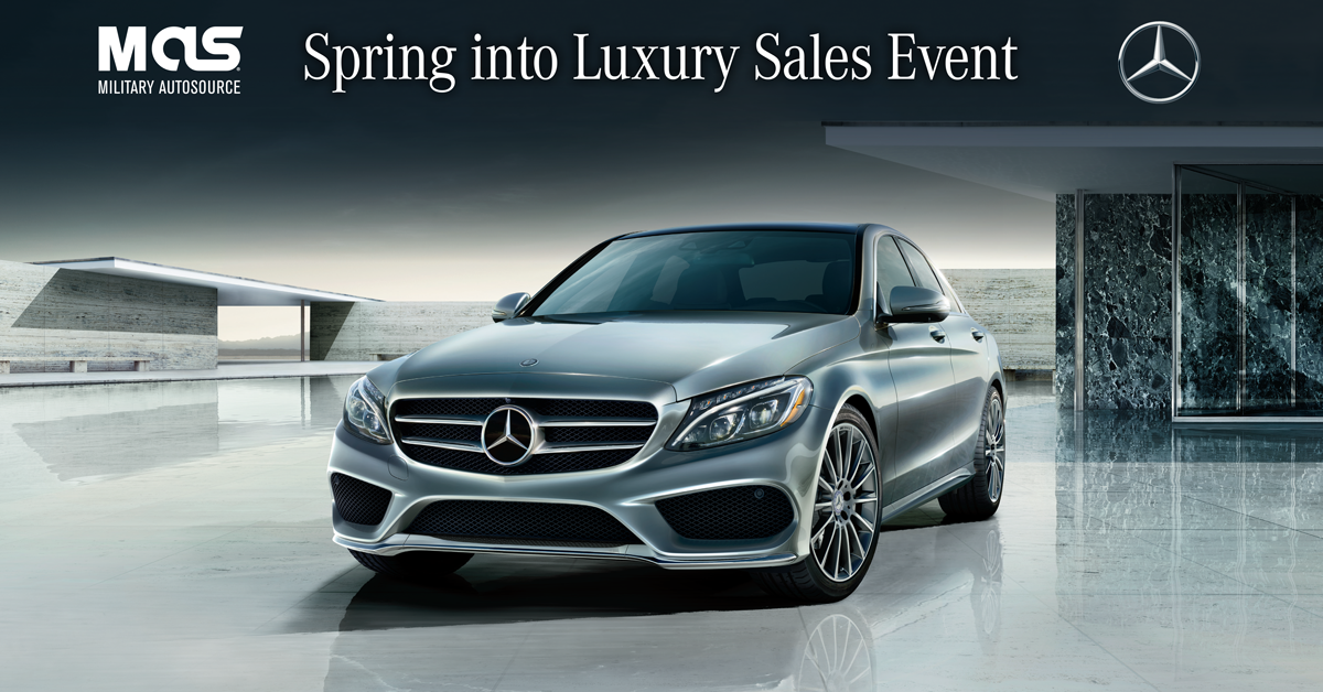 Spring Into Luxury With The MercedesBenz CClass Sedan - Mercedes benz military sales