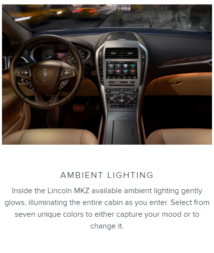 Ambient Lighting Lincoln MKZ