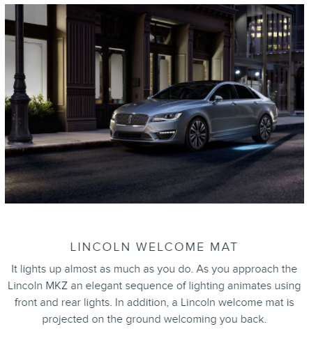 Lincoln MKZ Welcome Mat