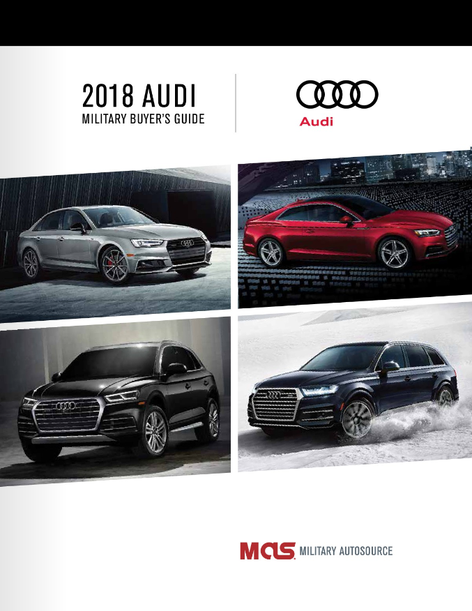2018 Audi Military Buyer's Guide