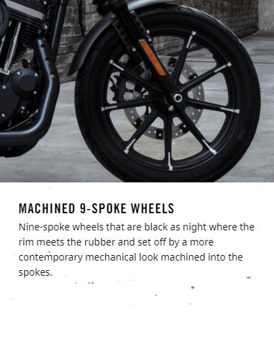 2018 Harley-Davidson Iron 883™ machined 9-spoke wheels