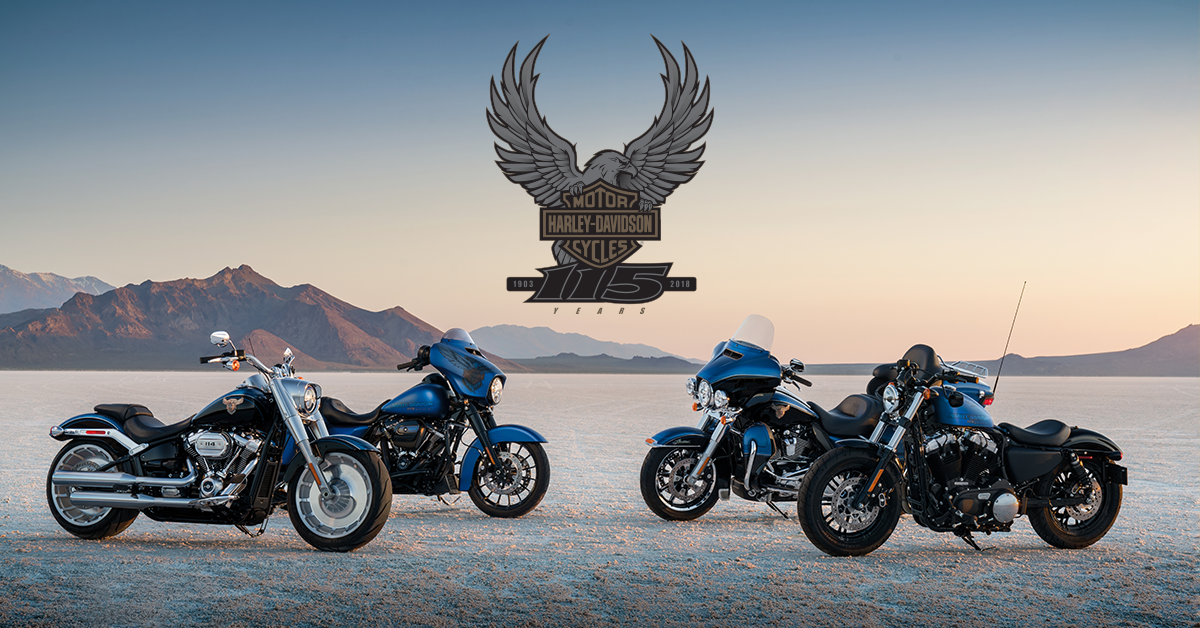 Limited Edition 115th Anniversary Harley-Davidson Motorcycles