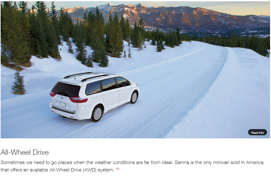 Toyota Sienna all-wheel drive
