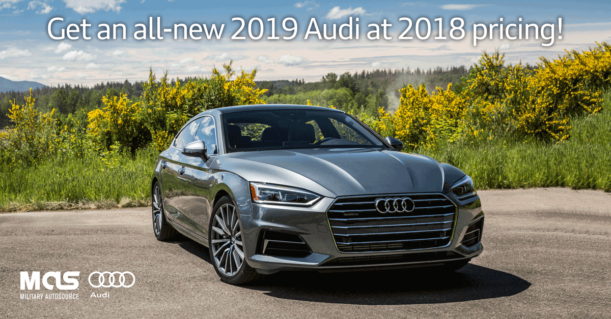 Get a 2019 audi 2018 pricing limited time offer for Drive away motors inventory