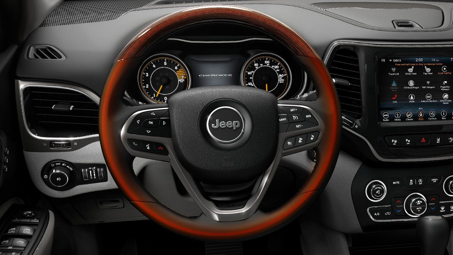 2019-Jeep-Cherokee-Interior-All-Weather-Features-Heated-Steering-Wheel