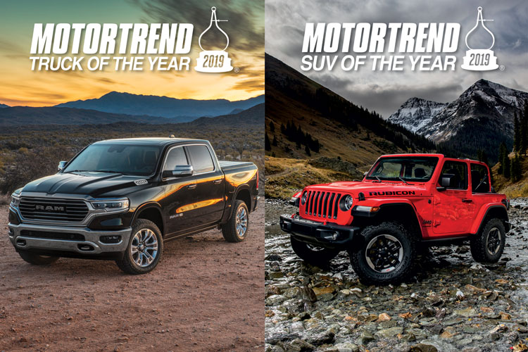 Jeep Wrangler And Ram 1500 Win Motor Trend S Suv And Truck Of The
